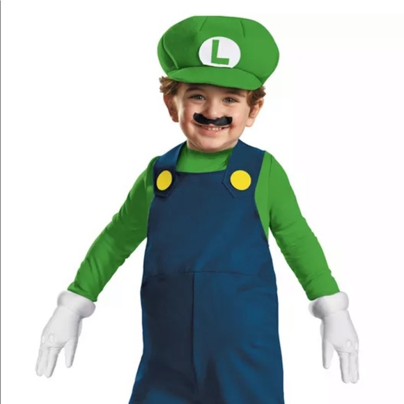 Costumes Childrens Super Mario Luigi Costume Brand New Poshmark